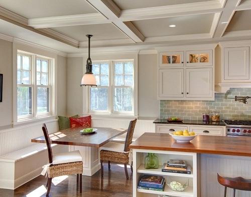 Breakfast-nook-modern-dengan-meja-kayu-Bestgarden