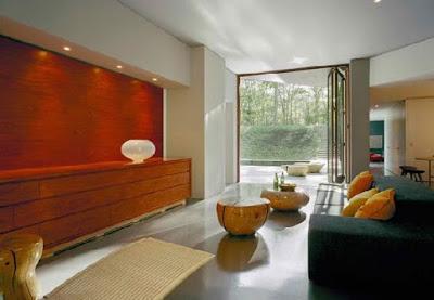 Desain ruang tamu rumah mewah minimalis lantai dasar