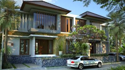 contoh foto desain rumah minimalis 2 lantai