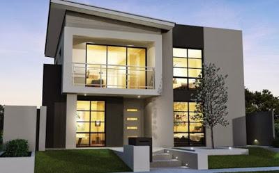 contoh gambar foto rumah minimalis 2 lantai
