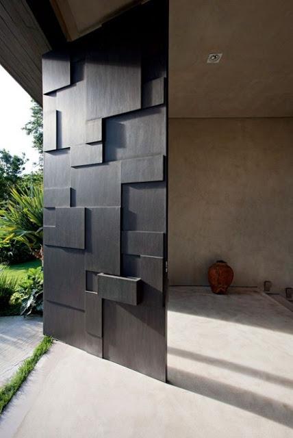 desain pintu depan rumah minimalis modern