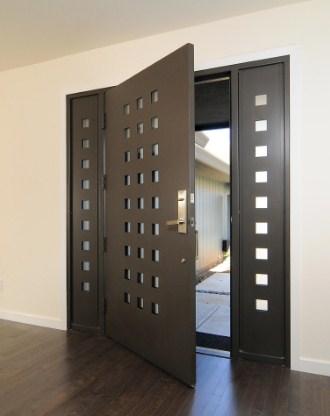 desain pintu rumah minimalis 1 lantai modern