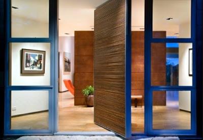 desain pintu rumah minimalis terbaru dari kayu dan kaca