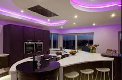 desain plafon ruang makan