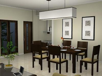 desain plafon ruang makan terbaru