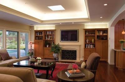 desain plafon ruang tamu mungil