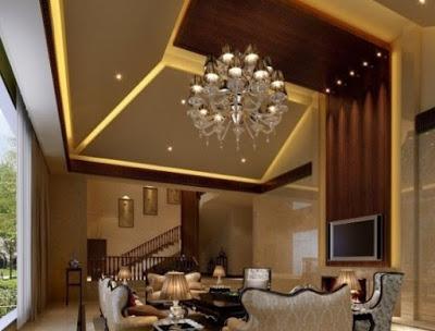 desain plafon ruang tamu sederhana