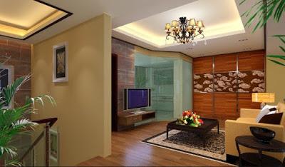 desain plafon ruang tamu terbaru