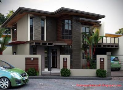 desain rumah mewah minimalis 2 lantai elegan