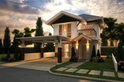 desain rumah minimalis 2 lantai terbaru mewah