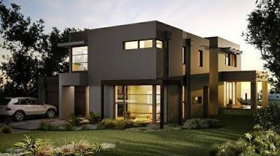 desain rumah minimalis 2 lantai terbaru sederhana dan unik