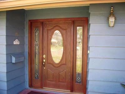foto pintu depan rumah minimalis