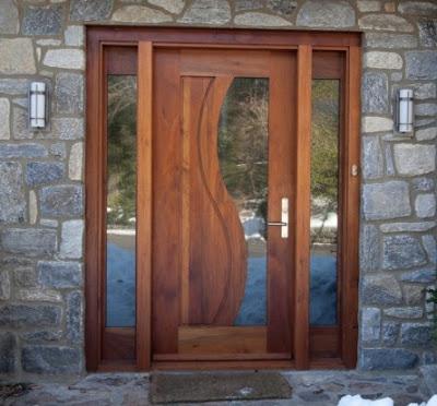 foto pintu rumah minimalis 1 lantai modern