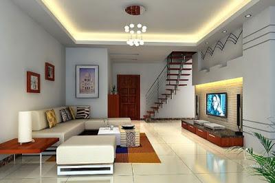 foto plafon ruang tamu modern