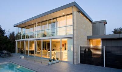 foto rumah mewah minimalis 2 lantai lengkap kolam renang