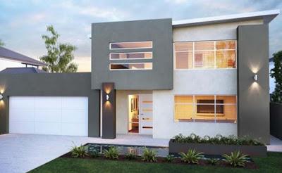 foto rumah minimalis 2 lantai sederhana