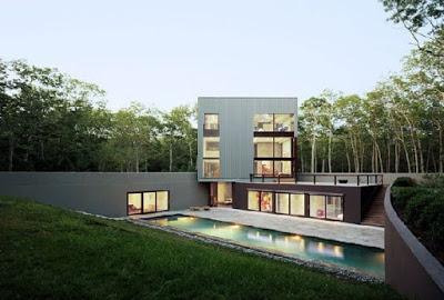foto rumah minimalis 2 lantai terbaru dengan kolam renang