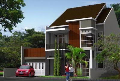 foto rumah minimalis 2 lantai type 70 modern