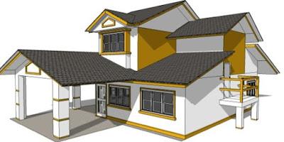 foto rumah minimalis sederhana 2 lantai dari samping
