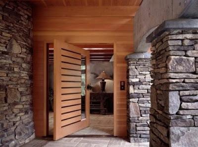 gambar desain pintu depan rumah minimalis modern gaya klasik