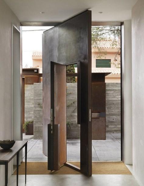 gambar desain pintu rumah minimalis putar modern unik