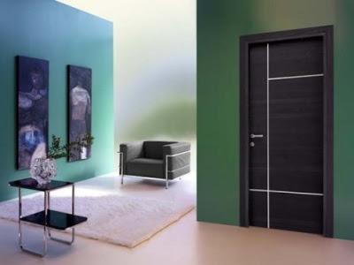 gambar pintu kamar tidur rumah minimalis hijau