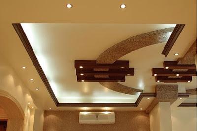 model dan desain plafon ruang keluarga minimalis