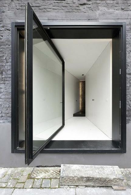 model pintu depan geser rumah minimalis modern