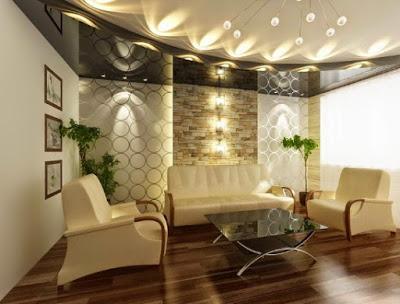 model plafon ruang keluarga minimalis
