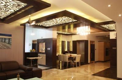 model plafon ruang makan minimalis