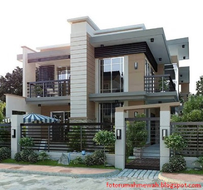 model rumah mewah minimalis 2 lantai