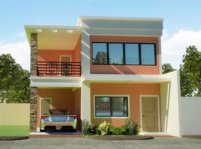 model rumah miniamlis 2 lantai sederhana