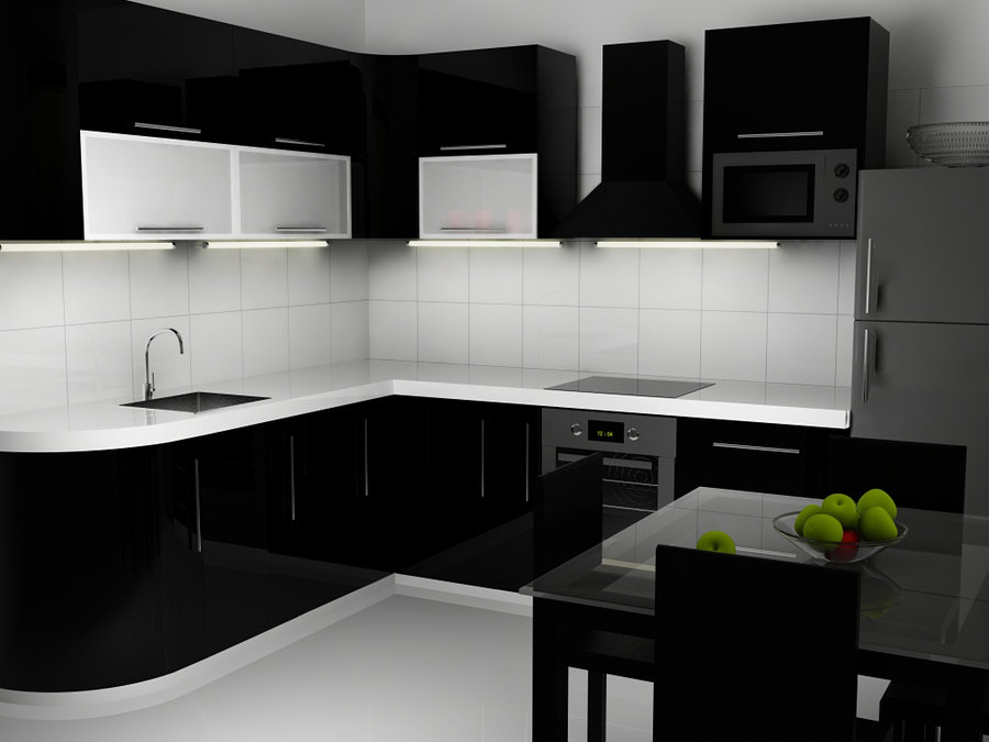 Desain Dapur Minimalis Nuansa Hitam Putih Perusahaan